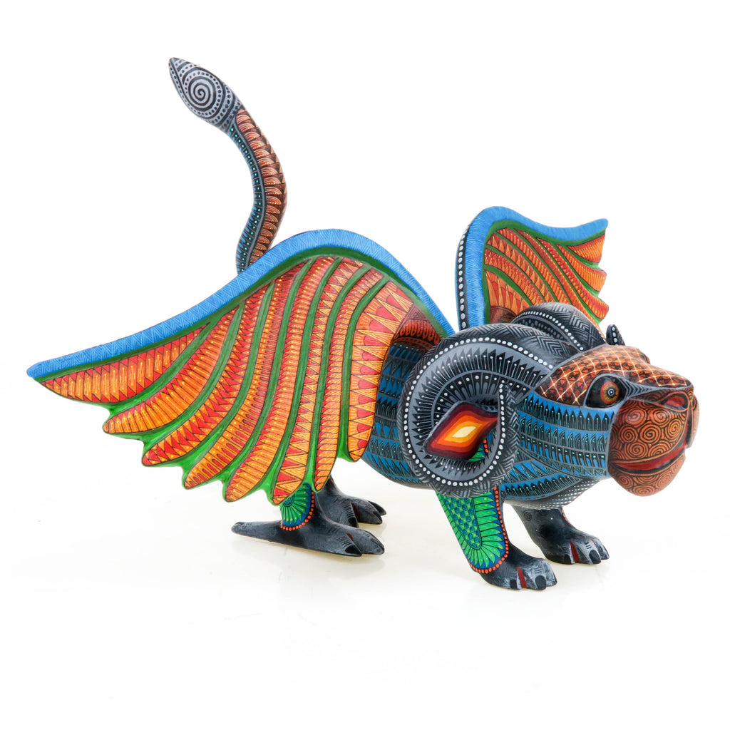 Pepita Winged Jaguar - Oaxacan Alebrije Wood Carving