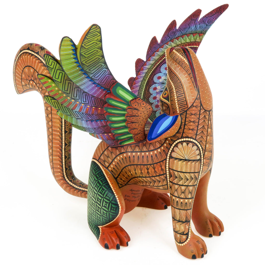 Winged Coyote - Oaxacan Alebrije Wood Carving