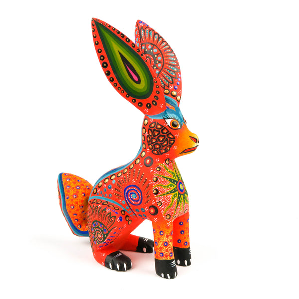 Rabbit - Oaxacan Alebrije Wood Carving Sculpture