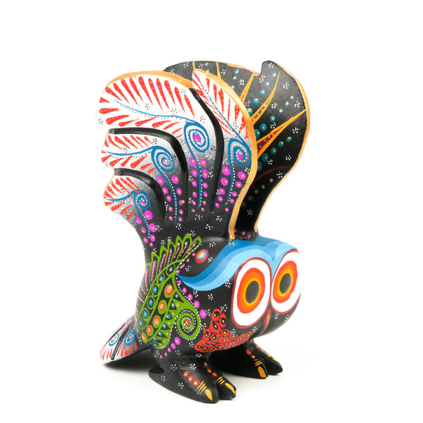 Owl in Flight - Oaxacan Alebrije Wood Carving Sculpture