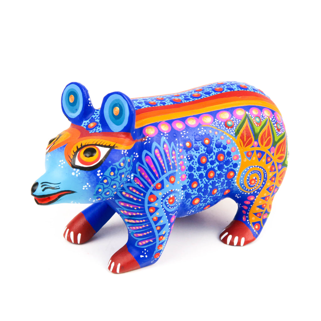 Bear - Oaxacan Alebrije Wood Carving Sculpture - VivaMexico.com