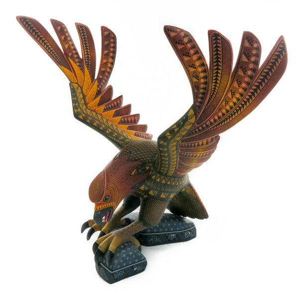 Magnificent Eagle - Oaxacan Alebrije Wood Carving - Nestor Melchor