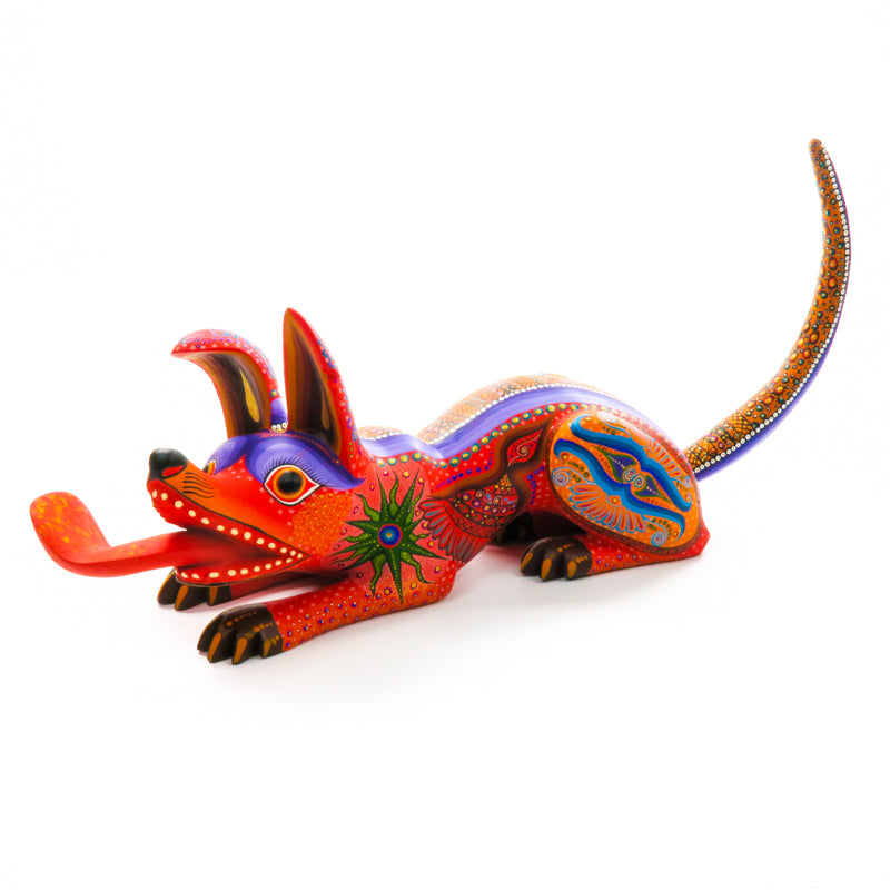 Fantastic Large Dog - Oaxacan Alebrije Wood Carving - VivaMexico.com