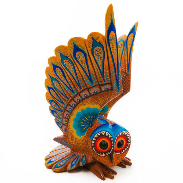 Large Owl - Oaxacan Alebrije Wood Carving - VivaMexico.com