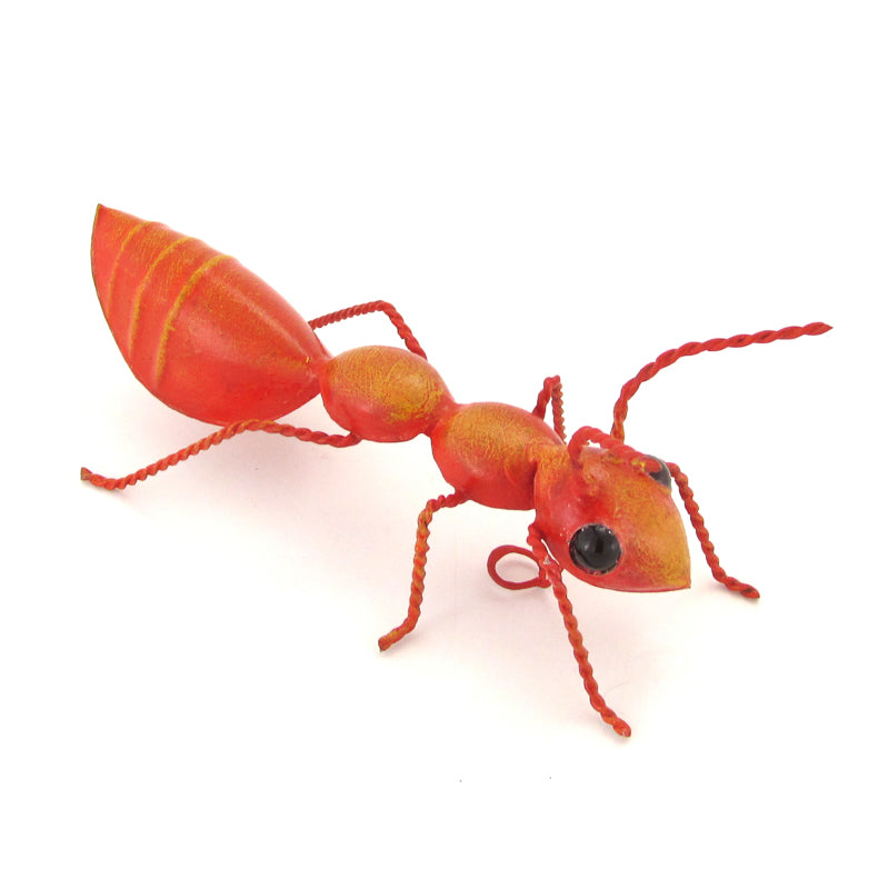 Red Ant - Handmade Sheet Metal Art Sculpture - VivaMexico.com