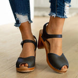Orange Peep Toe Casual Sandals