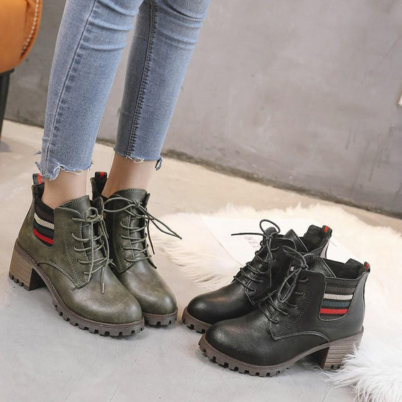 Women Fashion Tied Martin Boots