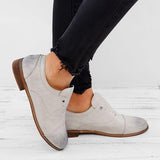 WOMENS OXFORD SHOES CASUAL FAUX LEATHER LOAFERS