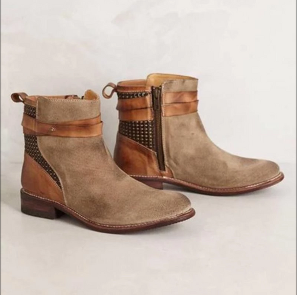 Low Heel Round Toe Daily Casual Ankle Boots