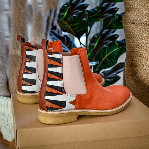 Orange Daily Suede Boots