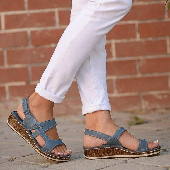 2019 Women Slingback Wedge Sandals