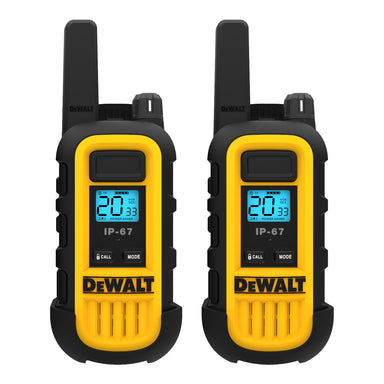 DEWALT DXFRS300 1W Dustproof Waterproof Shock Resistant Long Range FRS Two-Way Radio/Walkie Talkie, 2-Pack