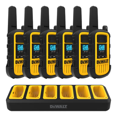 DEWALT DXFRS800-BCH6 - Six Pack DXFRS800 Radio + Six Port Charger Bundle