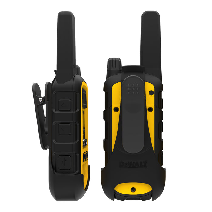 DEWALT DXFRS800 2W Dustproof Waterproof Shock Resistant Long Range FRS Two-Way Radio/Walkie Talkie, 2-Pack