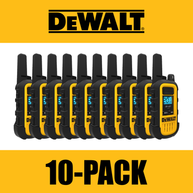 DEWALT DXFRS300 1W Dustproof Waterproof Shock Resistant Long Range FRS Two-Way Radio/Walkie Talkie, 10-Pack