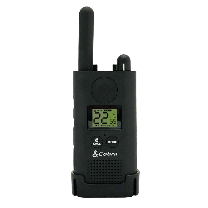Cobra PX500 Pro Business 1W IP54 Water-Resistant Hands-Free Extended Range UHF Two-Way Radio + Surveillance Headset Bundle