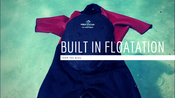 A wetsuit with built-in floatation
