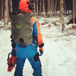 Dacoblue Flexible Fuel Transport Jerrycan Backpacks Full Set with Lifting Harness In The Forest