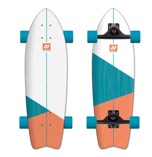 Hydroponic Sufskate Vortex Turquoise Orange Complete Skateboard Australia New Zealand Boardriders