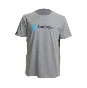 Surflogic Grey 100% Organic Cotton T-Shirt