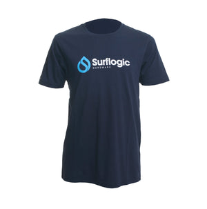 Surflogic Navy Blue 100% Organic Cotton T-Shirt