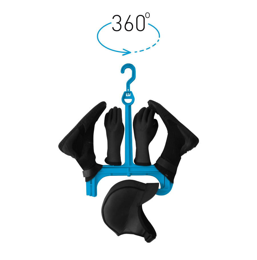 Surflogic Wetsuit Accessories Hanger Single System with 360 Degree Rotating Removeable Hook Clip System