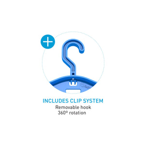 Details of the Surflogic 360 Degree Rotating Clip Removeable Hook System Used With the Double System Wetsuit Accessory Hanger