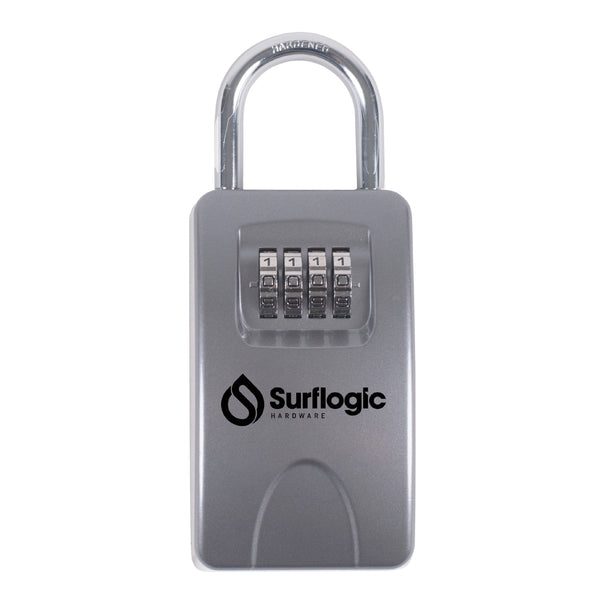 Surflogic Silver Maxi Key Vault Car Key Lock Box Closed