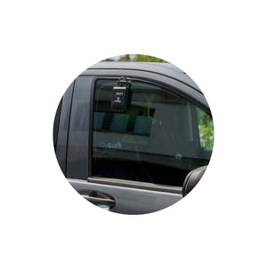 Demonstration of Surflogic Car Window Key Vault Lock Box Window Hanging Accessory In Use On Car