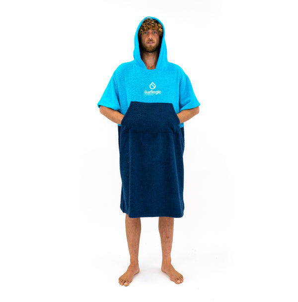Hooded Towel Change Robe Surflogic Australia Blue and Cyan