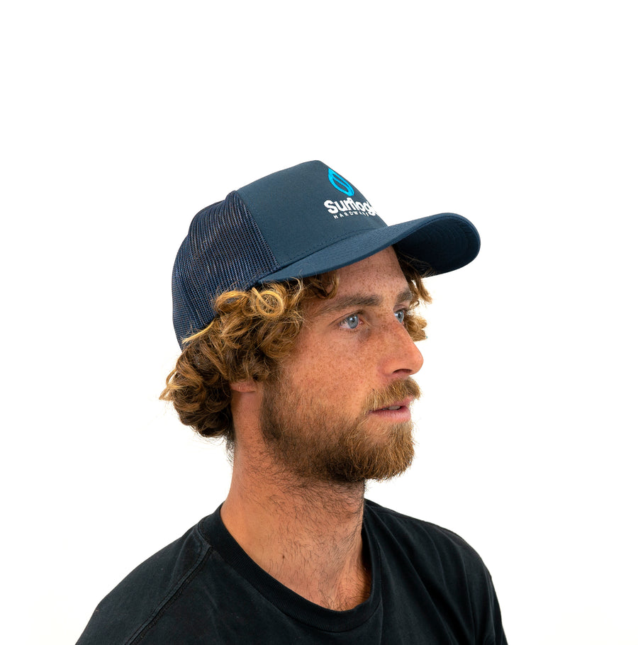 Curved Bill Surfing Trucker Cap Surflogic Hardware