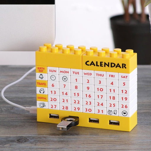 4-Port USB Hub Blocks Calendar-Gifts and Gadgets