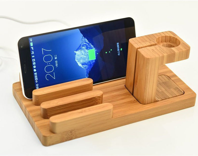 Wooden USB HUB Charging Stand Station-Gifts and Gadgets