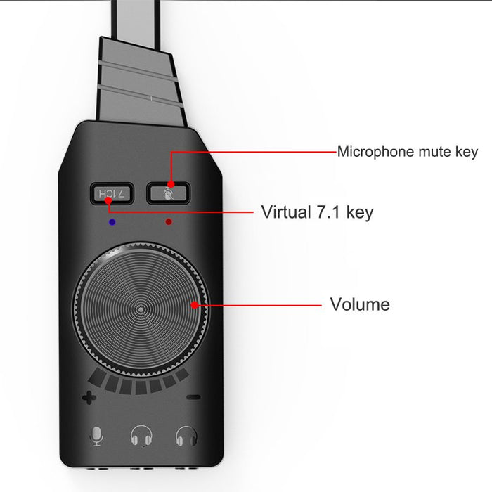 Virtual 7.1CH USB Sound Card-Consumer Electronics-Gifts and Gadgets