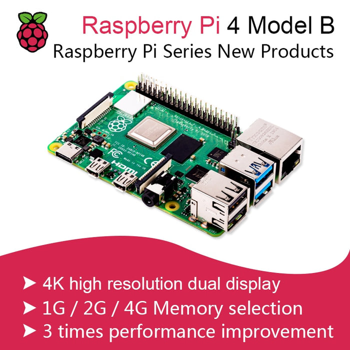 New 2019 Official Original Raspberry Pi 4 Model B Development Board Kit RAM 2G/4G 4 Core CPU 1.5Ghz 3 Speeder Than Pi 3B+-Gifts and Gadgets