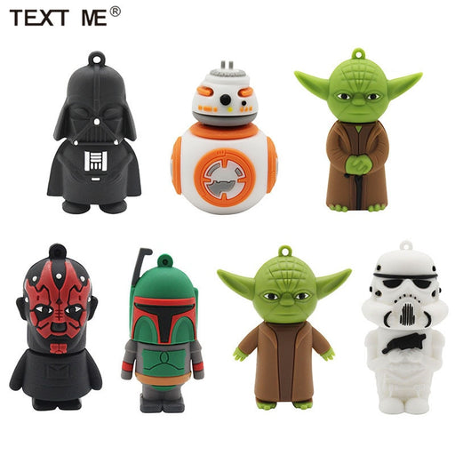 TEXT ME USB stick star wars usb 2.0 USB flash drive pen drive 4GB 8GB 16GB 32GB memory Stick-Gifts and Gadgets