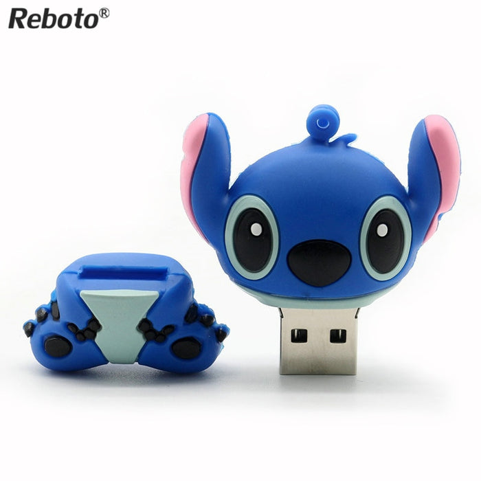 USB Flash Drive Lilo & Stitch 4GB 8GB 16GB 32GB U disk Cute thumb memory stick 64GB pen drive USB flash-Gifts and Gadgets
