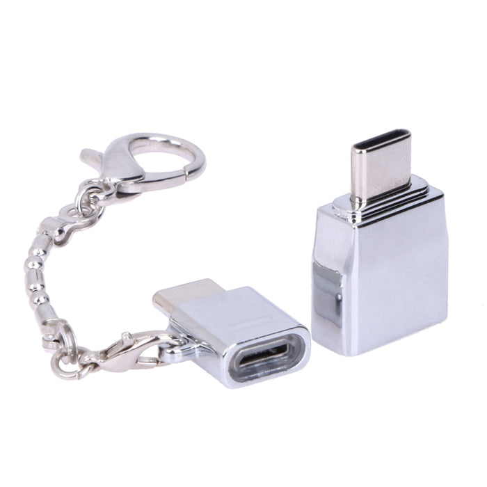 USB Gadgets 12g 30V 20A Alloy Type-C Male To Female Micro USB Adapter Converter Connector For PC Computer-Gifts and Gadgets