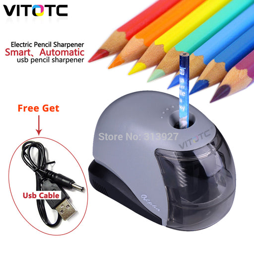 USB Electronic Pencil Sharpener Two mode Battery USB Gadgets automatic Pencil tool for children school Stationary Children Gift-Gifts and Gadgets