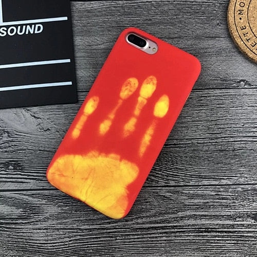 Fashional Thermal Sensor Case for iphone X XS XR XS Max 7 8 6 6s Plus Thermal Heat Induction phone case fundas protective cover-Gifts and Gadgets