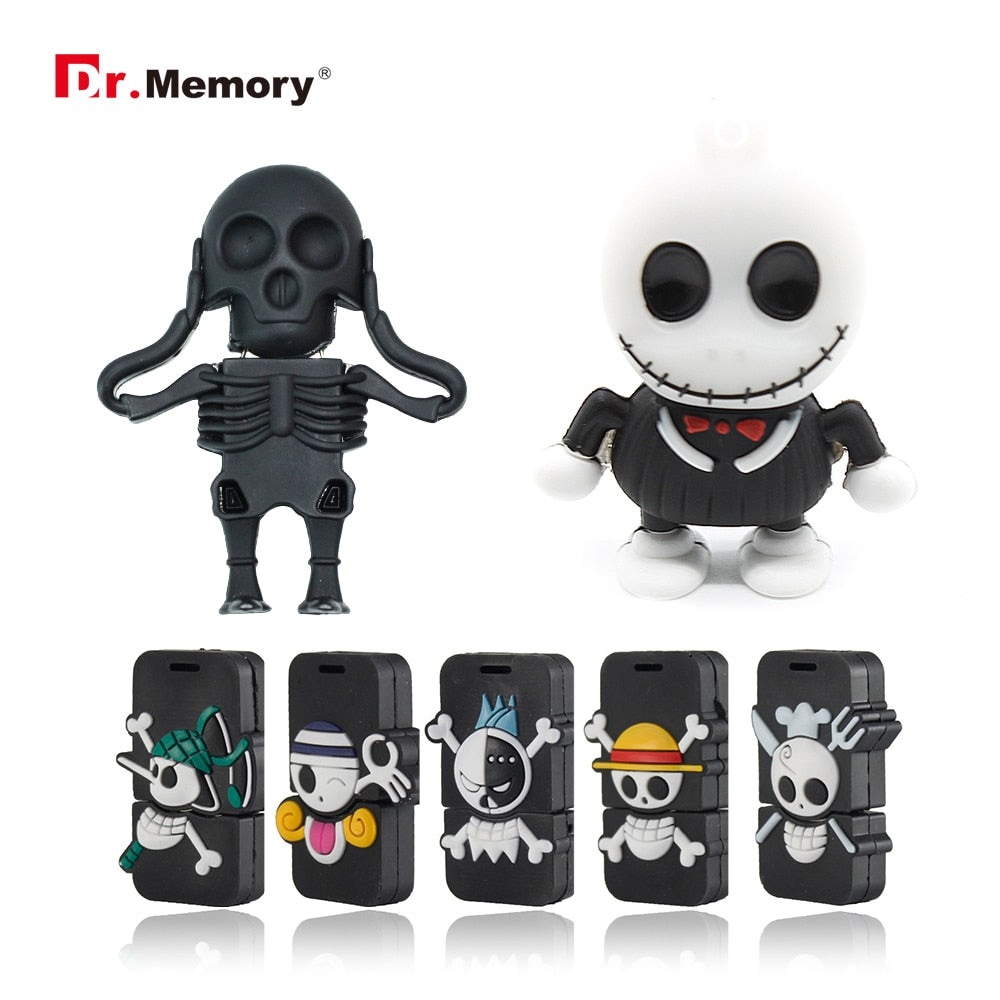 Funny USB Flash Drives Skull Skeleton Pendrives 32GB 4GB 8GB 16GB Pen Drive Personalized Memory Stick I Flashdisk Creative Gifts-Gifts and Gadgets