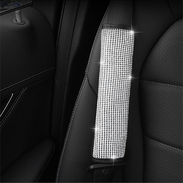 Bling Bling Rhinestones Crystal Car Steering Wheel Cover PU Leather Steering-wheel covers Auto Accessories Case Car Styling-Gifts-Gifts and Gadgets