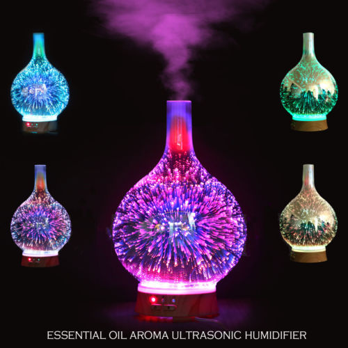 3D Glass Firework Colorful LED Aromatherapy Essential Oil Diffuser Humidifier USB Gadgets-Gifts and Gadgets