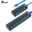 Rovtop USB HUB 3.0 4/7 Ports Micro USB 3.0 HUB Splitter With Power Adapter USB Hab High Speed 5Gbps USB Splitter 3 HUB For PC-Gifts and Gadgets