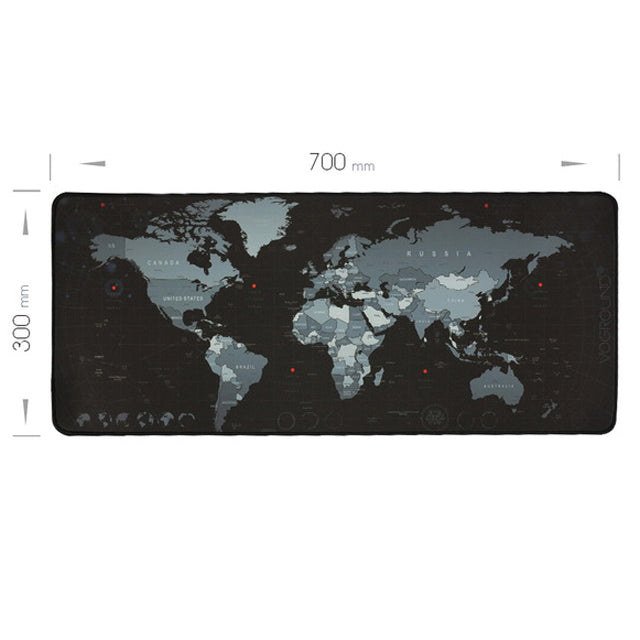 Gaming Mouse Pad Large Mouse Pad Gamer Big Mouse Mat Computer Mousepad Rubber World Map Mause Pad Game Keyboard Desk Mat-Gifts and Gadgets