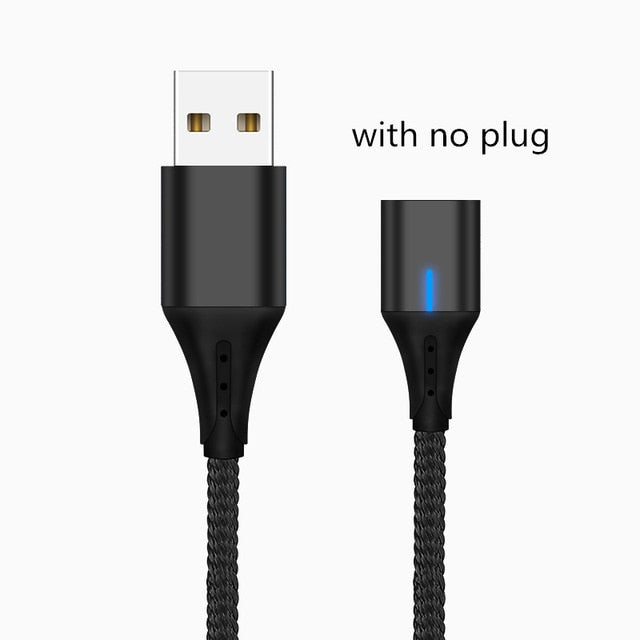 SUNPHG Mobile Phone 3A Magnetic Cable Charger 2m Micro USB Fast Charging Type C Data Cable for iPhone Lightning xs xr Samsung S9-Gifts and Gadgets
