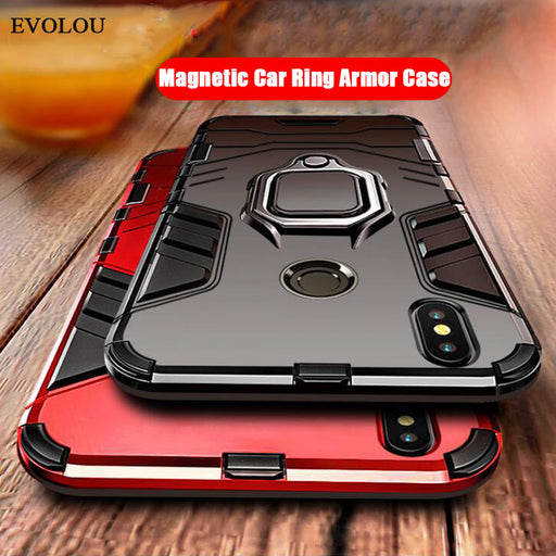 Hybrid Armor 2 in 1 Case for Xiaomi Redmi Note 7 6 5 4X Magnetic Ring Holder Stand Phone Case Xiaomi Mi 9 SE 8 Lite A2 6X Max 3-Gifts and Gadgets