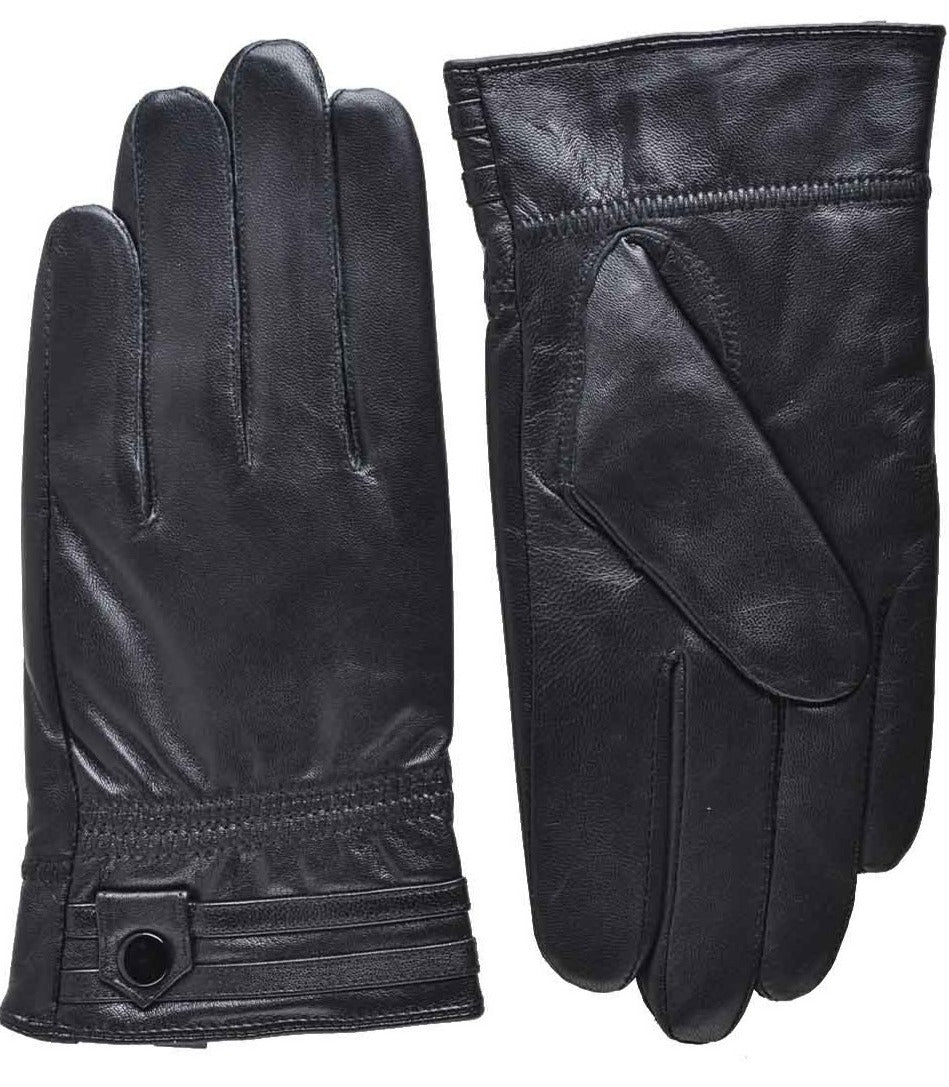 YISEVEN Men's Touchscreen Warm Fleece Fur Lined Sheepskin Leather Gloves