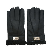 Load image into Gallery viewer, YISEVEN Men's Winter Shearling Sheepskin Gloves Warm Fur Cuff Thick Wool Lined