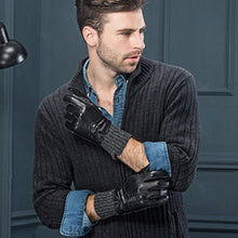Load image into Gallery viewer, YISEVEN Men's Touchscreen Winter Sheepskin Leather Dress Gloves